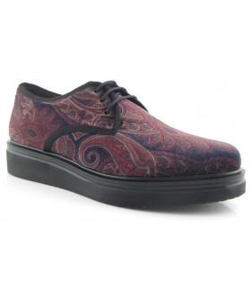 Zapato estampado terciopelo