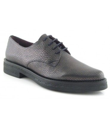 Zapato blucher color acero