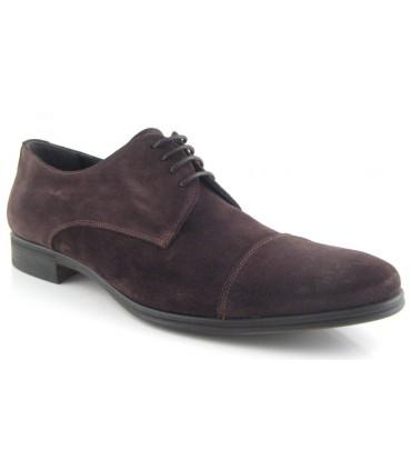 Zapato de vestir marrón puntera recta