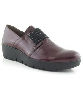 Zapatos charol burdeos elástico central