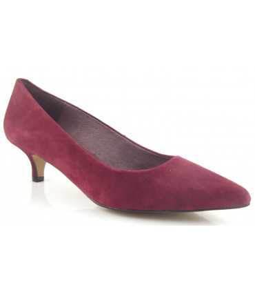Zapato mujer color rioja