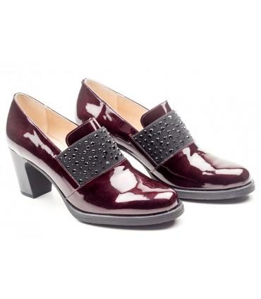 Zapato elástico charol