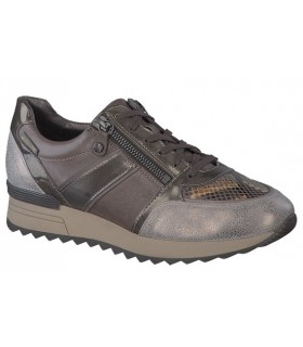Deportivo color taupe cremallera lateral