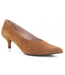 Zapato tacón chupete salón cuero