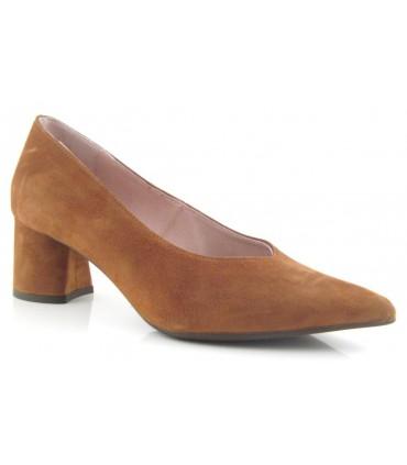Zapato salón ante cuero