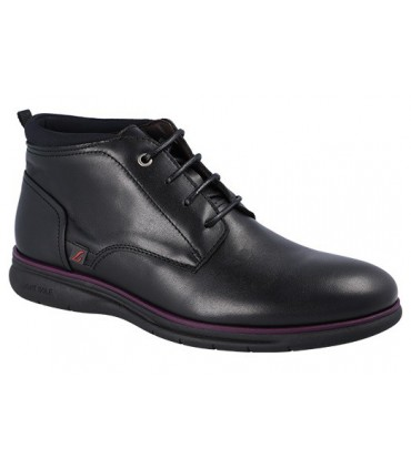 Zapato negro abotinado
