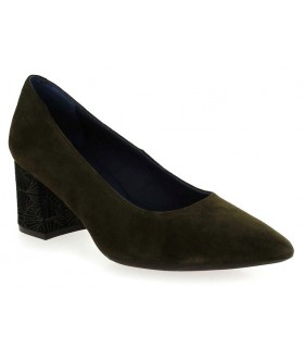 Zapato salón verde tacón dibujado