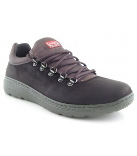 Zapato de cordones con ganchos marrón