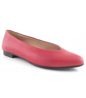 Zapato salón piel rojo