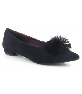 Zapato salón negro pompón