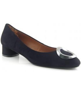 Zapato ante negro adorno