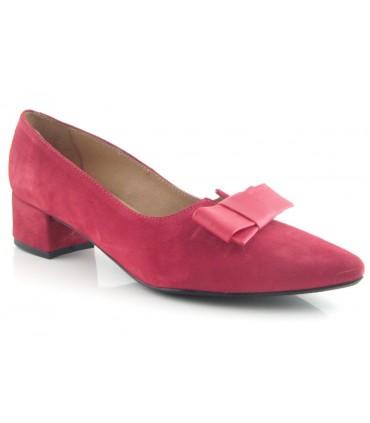 Zapato salón lazo rojo
