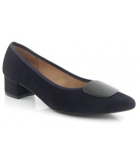 Zapato salón tacón bajo negro