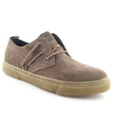 Zapato taupe con cordones