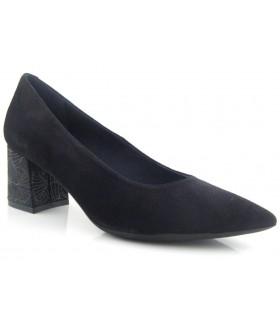 Zapato salón negro tacón medio