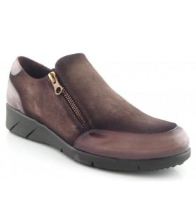 Zapato con cremallera lateral de confort