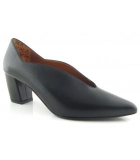 Zapato salón tacón medio color negro