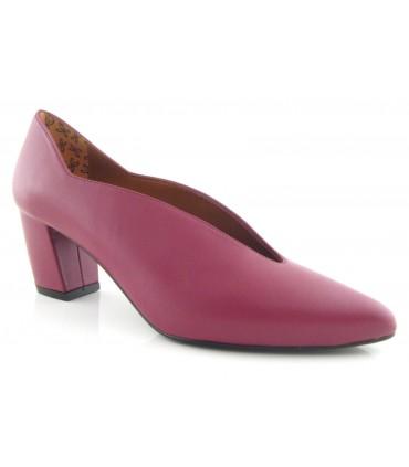 Zapato burdeos piel