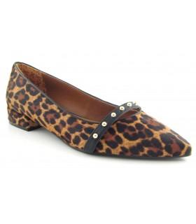 Zapato leopardo tacón bajo