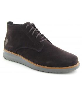 Zapato abotinado con suela gris