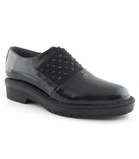 Zapato mocasín con elástico en la pala