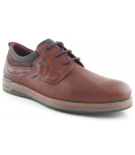Zapato clásico cordones camel