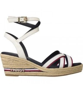 Alpargata mujer TOMMY HILFIGER ICONIC ELBA CORPORATE RIBBON BLANCO