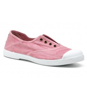 Deportivo de lona puntera goma rosa