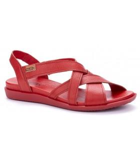 Sandalia plana color rojo