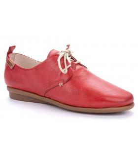 Zapatos de cordones en color rojo