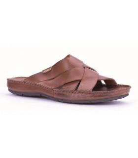 Sandalia para hombre color cuero
