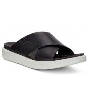 Sandalia de confort con tiras cruzadas