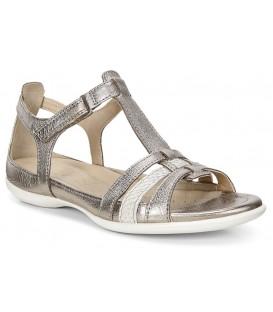 Sandalia color oro de confort
