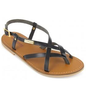 Sandalia negra de piel