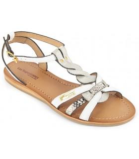 Sandalias de piel multi blanco