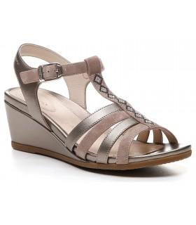 Sandalia de confort en color taupe