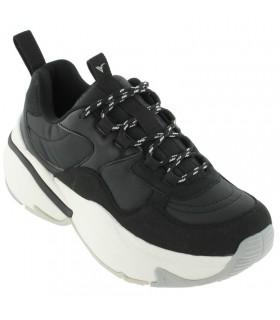 Deportivas de moda piso ancho color negro