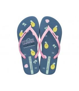 Sandalia con dibujos color azul