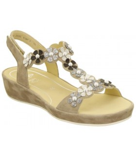 Sandalia de confort taupe