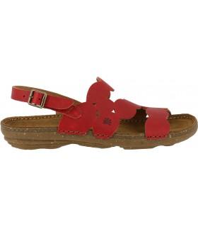 Sandalias de color rojo con suela de caucho