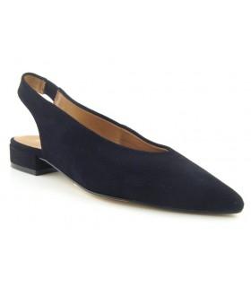 Zapato salón negro plano