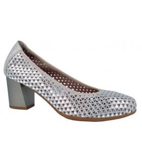 Zapato salón calado tacón ancho