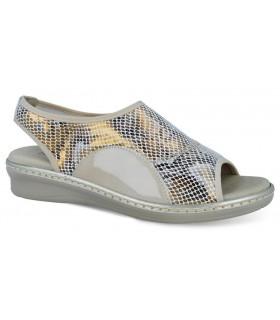 Sandalia de confort elástica