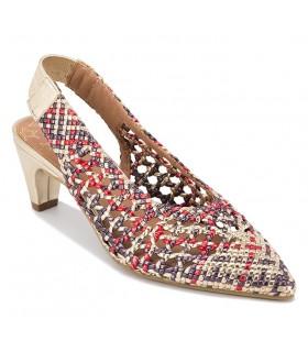 Zapato salón trenzado descalzo