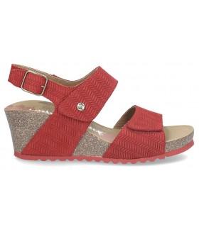 Sandalia de cuña con piso bio color rojo