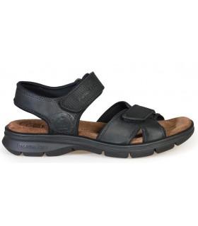 Sandalia de confort con velcros color negro