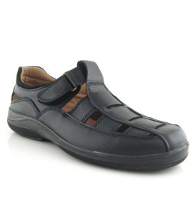 Sandalia de confort en color negro