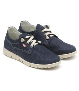 Zapatos de hombre con tacones elásticos marino