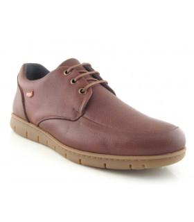 Zapato clásico de cordones color cuero