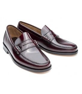 Zapato clásico Castellano de Madrid florentic burdeos